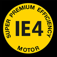 Super premium efficency hnací motor IE4 Logo